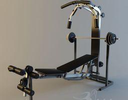 3d asset VR / AR ready gym equipment