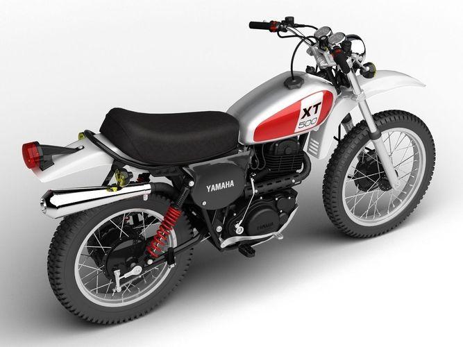 Yamaha xt500 1975 3d model max obj 3ds fbx c4d dxf for Yamaha xt500 motorcycle