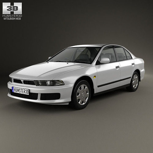 Mitsubishi Sports Car List: Mitsubishi Galant Sedan 1996 3D