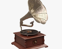 3D Gramaphone 002 HIS MASTERS VOICE
