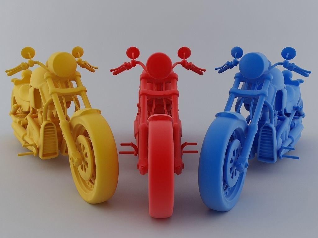Heavy Bike 3D Model