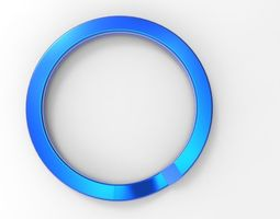 ring for key chain 3d