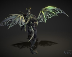 animated gargoyle 3d model