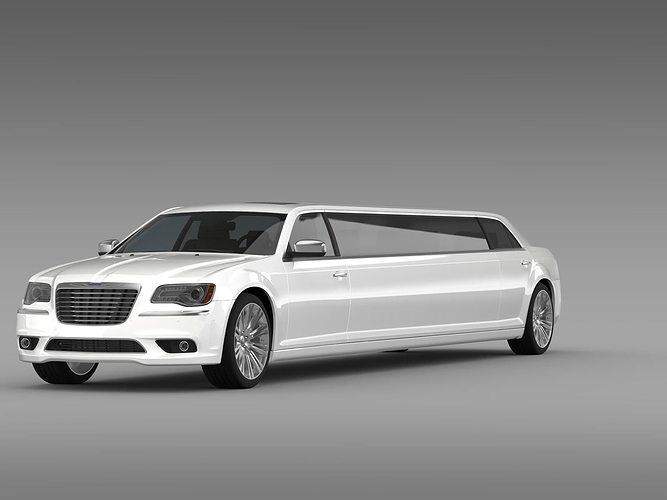 3d chrysler 300c 2013 limousine cgtrader. Black Bedroom Furniture Sets. Home Design Ideas