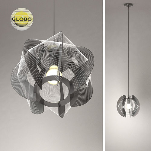 chandelier globo lightning 1 3d model max obj mtl 3ds fbx 1