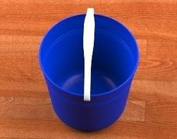 Bucket blue 3D