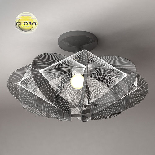 ceiling lamp globo lightning 2 3d model max obj mtl 3ds fbx 1