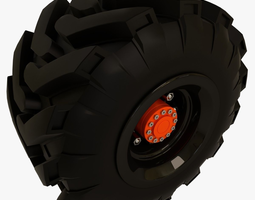 Tractor and Offroad Truck Tire 3D
