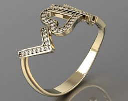 3d print model love is all u need ring