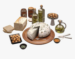 3d model cheese board 001