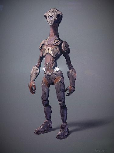 robot scout 3d model obj mtl 1