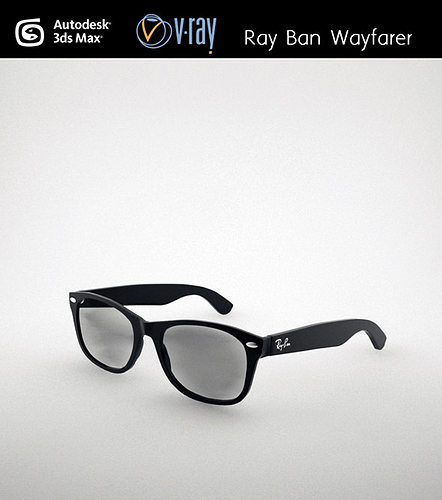 bb45364bbe ray ban wayfarer 3d model max obj mtl fbx stl unitypackage prefab 1