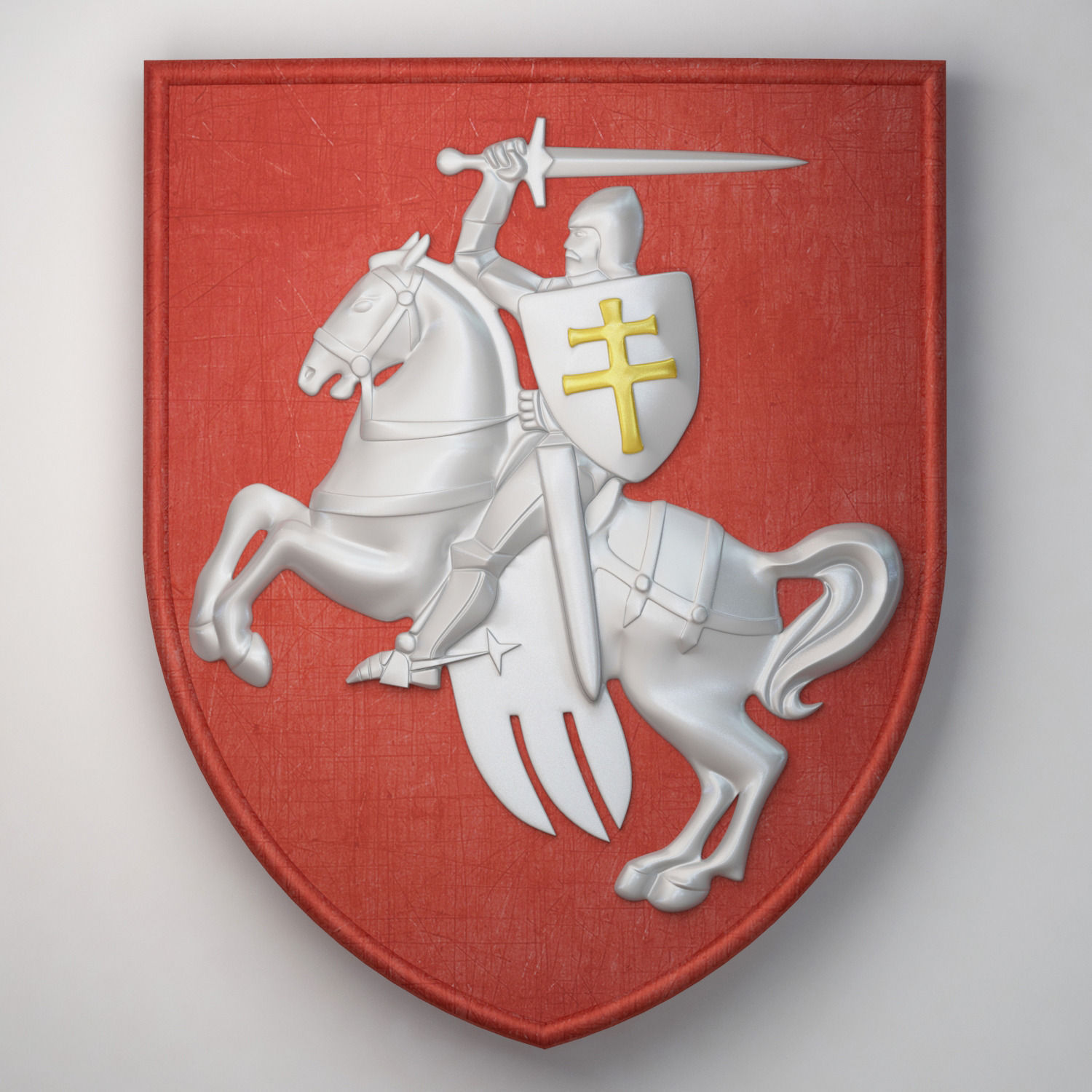 Old coat of arms of the Republic of Belarus for print