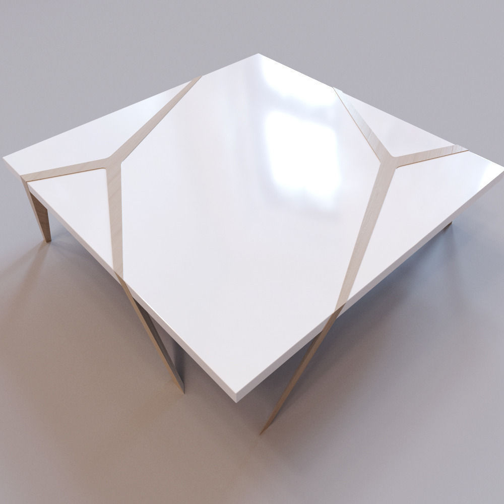 Roche Bobois Mangrove cocktail table 3D asset CGTrader