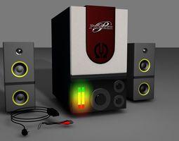 3D model low-poly Speaker