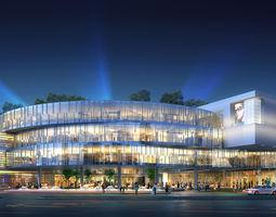 City Shopping Mall 3D model plaza