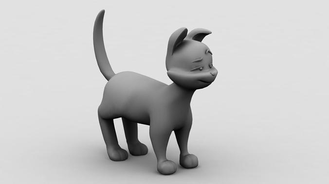 cat model 3d model max obj 3ds lwo lw lws ma mb dxf 1