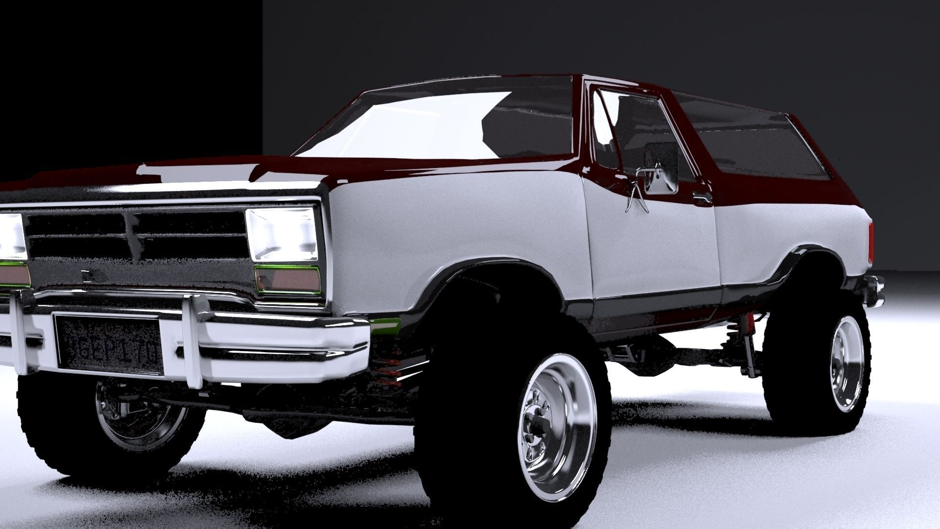 dodge ramcharger 1980 truck 3d model max obj 3ds fbx mtl. Black Bedroom Furniture Sets. Home Design Ideas