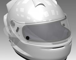 Race Car Helmet 3D model