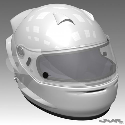 race car helmet 3d model max obj 3ds fbx mtl 1