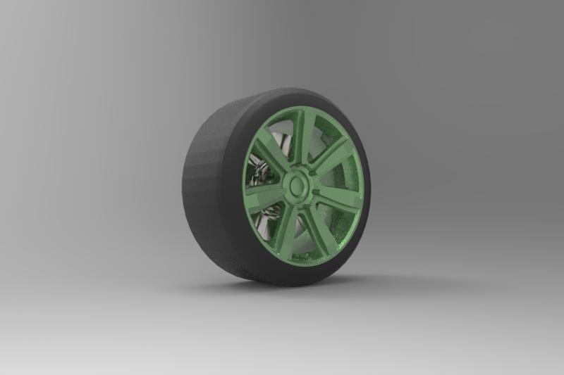 Bentley wheel with textures and  tyre