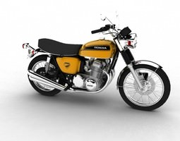 3D model Honda CB750 Four K0 1969