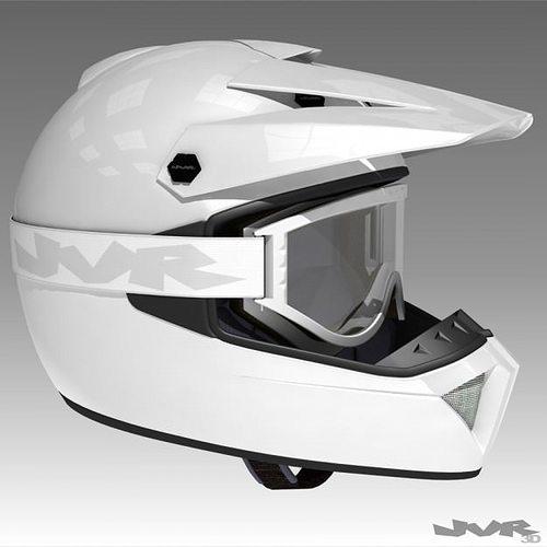 motocross helmet and goggles 3d model max obj 3ds fbx mtl tga 1