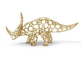 3D model realtime Styracosaurus Voronoi Wireframe