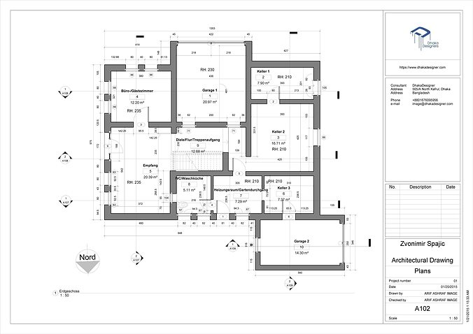 Architectural Drawing In Revit 3d Model Rvt