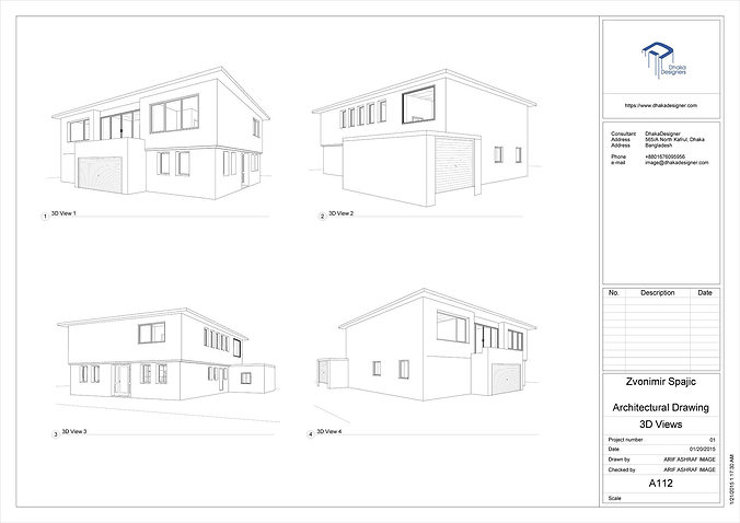 3d Model Architectural Drawing In Revit Cgtrader