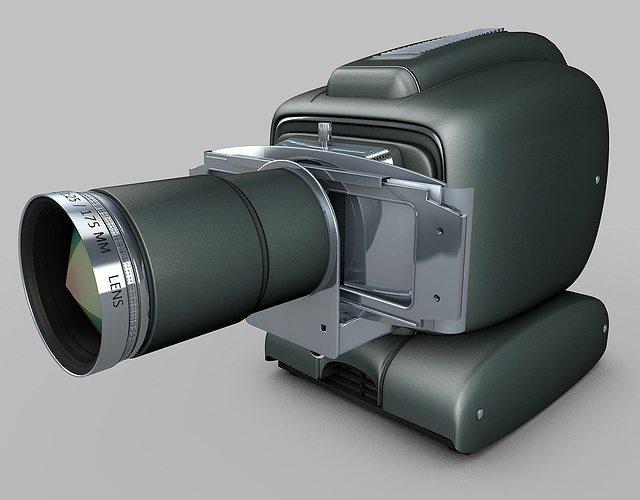 vintage projector 3d model obj 3ds fbx c4d dxf 1