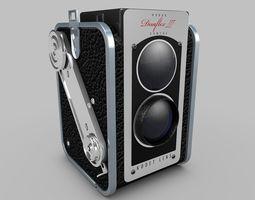 kodak vintage camera 3d model obj 3ds fbx c4d dxf
