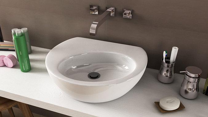 Ideal Standard Drift Washbasin 3d Model Cgtrader
