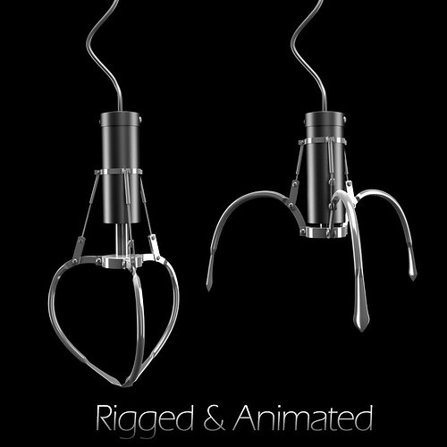 claw toy rigged animated 3d model rigged animated max obj mtl 1