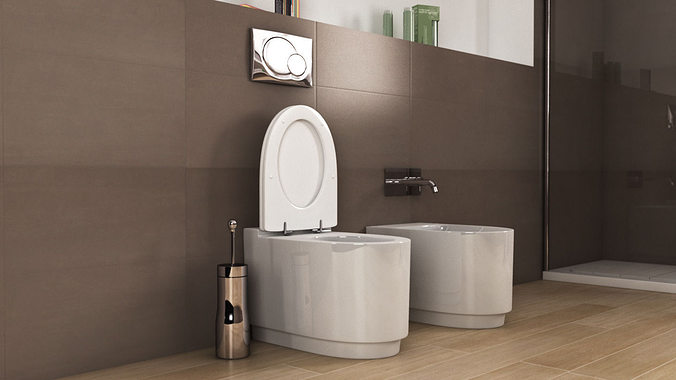 Ideal Standard Toilet : 3d model ideal standard moments toilet n24 cgtrader