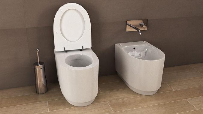 ideal standard moments toilet n24 3d model c4d. Black Bedroom Furniture Sets. Home Design Ideas