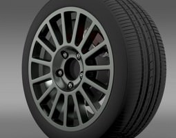 3d vw polo r wrc wheel