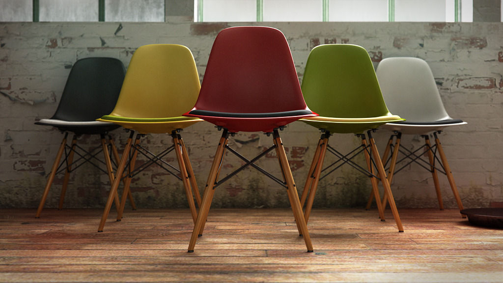 Wunderbar Vitra Eames Plastic Side Chair Dsw 3d Model C4d ...