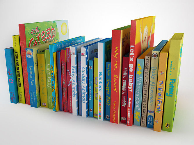 3d children book collection