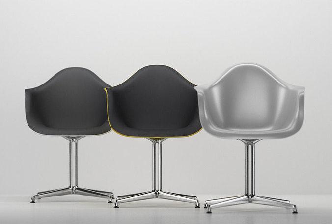 Vitra Eames Plastic Armchair DAL 3D Model