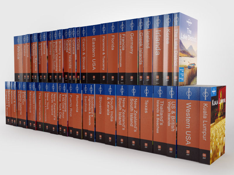 lonely planet collection 3d model c4d