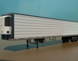 3D 53 Foot Refrigerated Semi Trailer