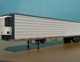 53 Foot Refrigerated Semi Trailer 3D Model
