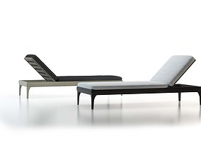 Stylish Sunlounger 3D model