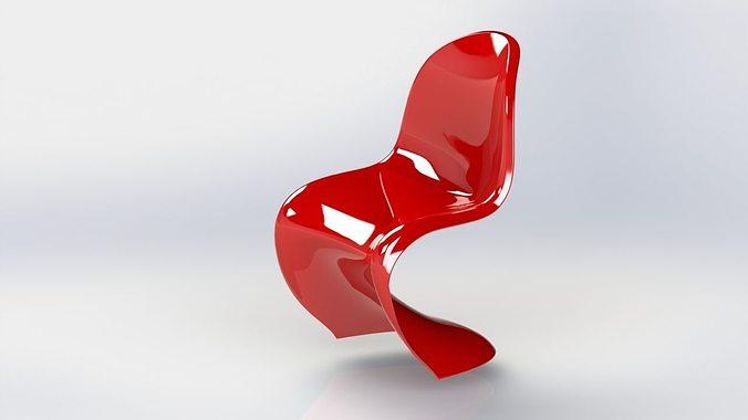 Panton Chair 3D Print Model