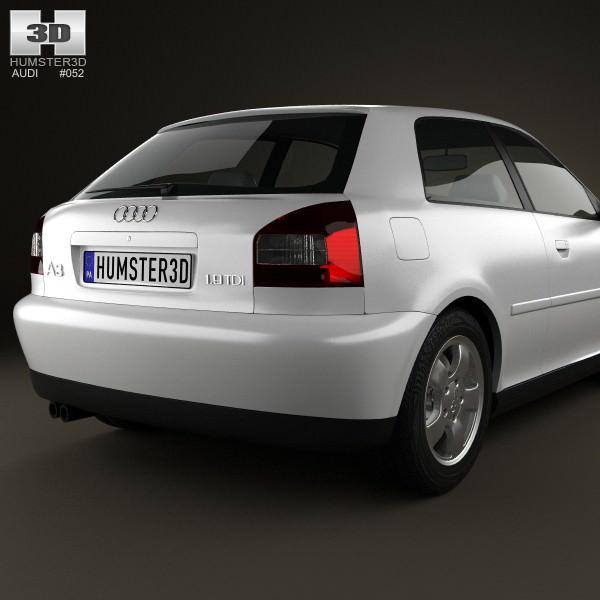 ... audi a3 8l 3-door 2003 3d model max obj 3ds fbx c4d lwo lw ... & 3D Audi A3 8L 3-door 2003 | CGTrader