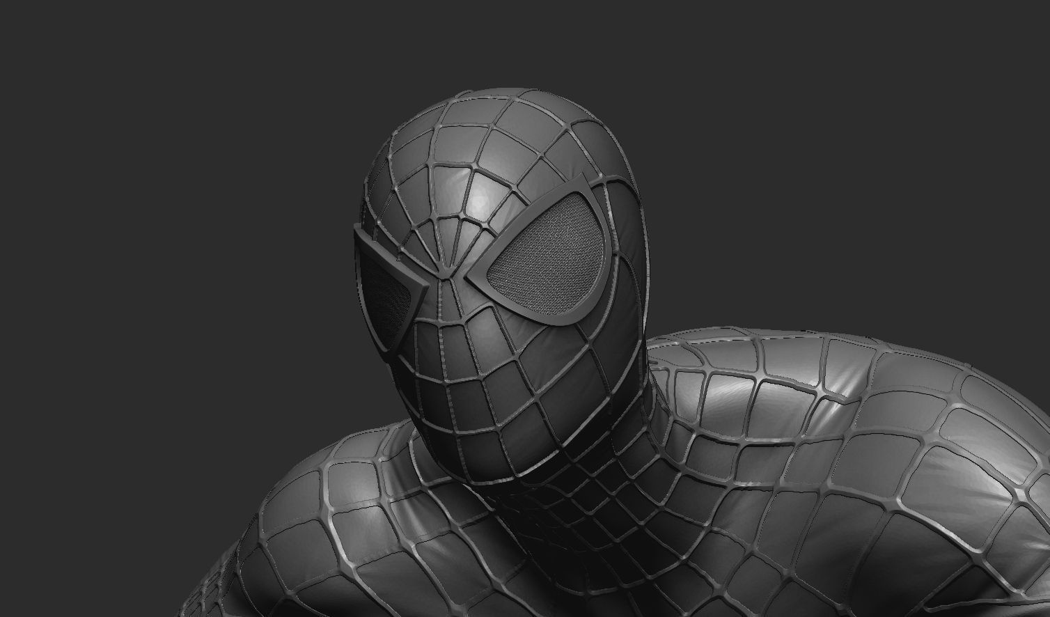spider,man model 3d model obj 1