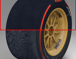 3D model 18 inches supersoft rear tyre