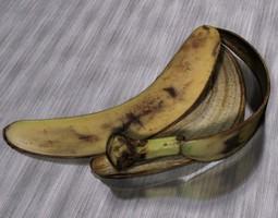 banana peel 3d model max obj 3ds fbx