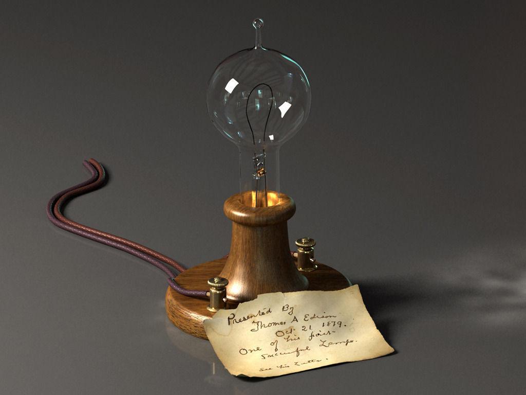 Attractive Edison Lamp 3d Model Max 1 ...